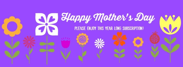 Mother's Day magazine subscription card